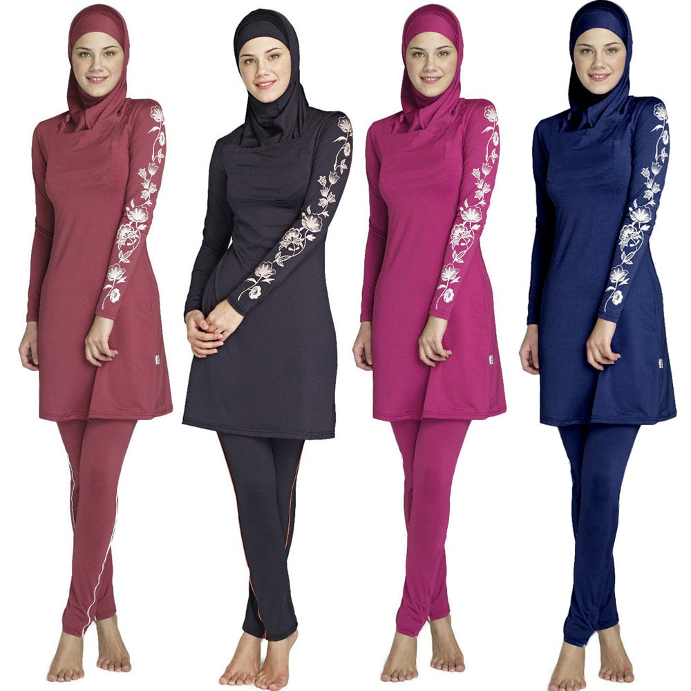 9a6d8c7213b89 Muslim Swimwear swimming clothes Islamic Women Modest Hijab Plus Size  Burkinis Wear Bathing Suit Beach