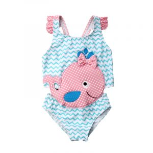 a33e7802e634e 2019 Kids Swimwear Baby Girl Swimsuit Bowknot One-Piece Goldfish Jumpsuit Bathing  Suit Summer Toddler Children Beachwear